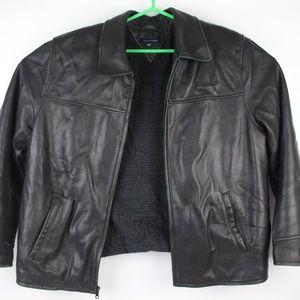 Genuine Leather Tommy Hilfiger Jacket Size XXL